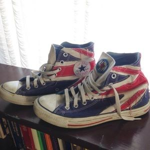 The Who union jack high top converse